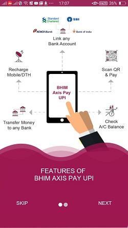 bhim axis pay upi app 3