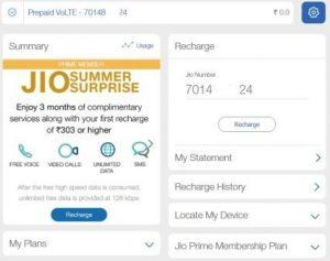 Customer Care: Jio Prime/ Summer Surprise Recharge Failed