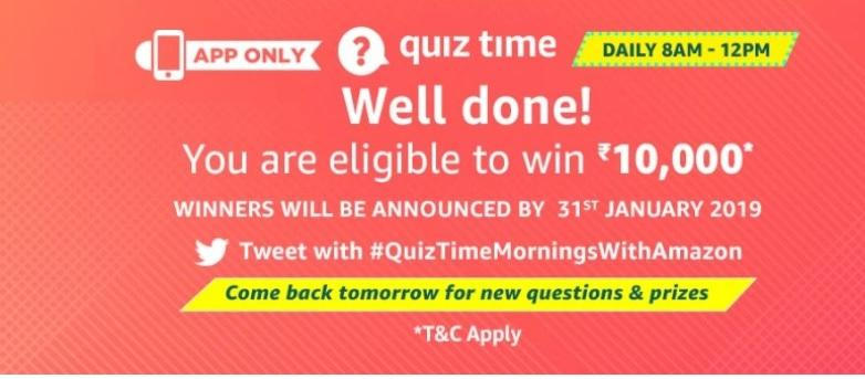 amazon quiz 31 dec answers