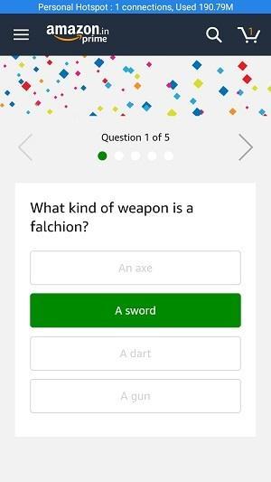 14 Jan Amazon Quiz Answer 1