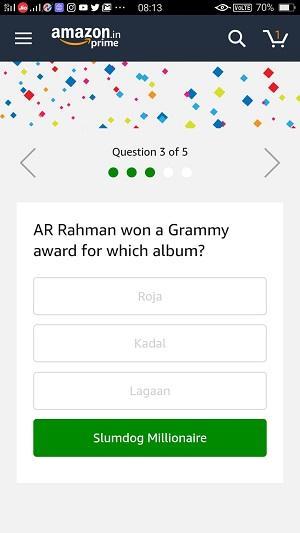 14 Jan Amazon Quiz Answer 3