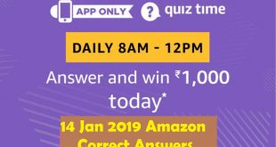 15 jan amazon quiz answers