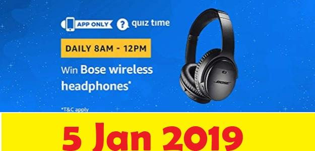 amazon 5 jan bose wireless headphones quiz
