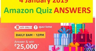 amazon quiz 4 jan answers