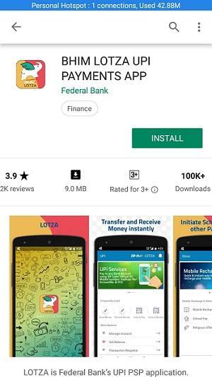 fedral bank lotza bhim upi app 1