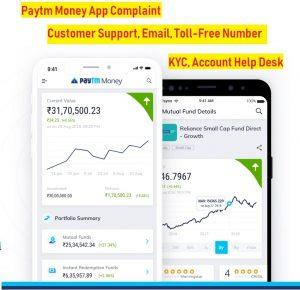 paytm money app complaint support