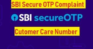 sbi secure otp complaint