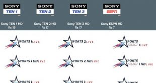 start and sony sports bouquet rates 2019