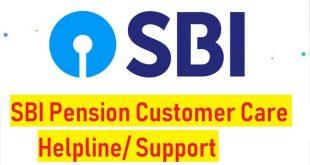 SBI Pension Customer Care Helpline