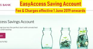 easy access saving account fee charges