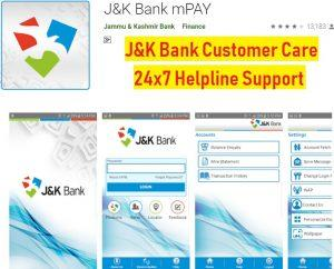 J K Bank Mpay Customer Care Payment 24x7 Helpline Number Complaint Box