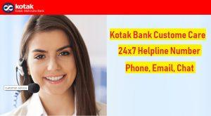 kotak bank customer care