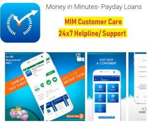 money in minutes loan customer care